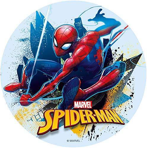 Dekora Cialda Spiderman per Torta, Decorazioni Commestibile per Compleanno-16 cm, Multicolore, 231362