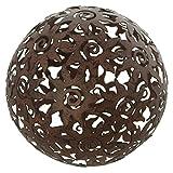 amelex 67 Boule de décoration Soleil, déco de Jardin, métal Brun patiné,...
