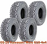 Full Set ATV Tires 24x9-10 & 24x11-10 for 05-16 Kawasaki Mule 610 4x4