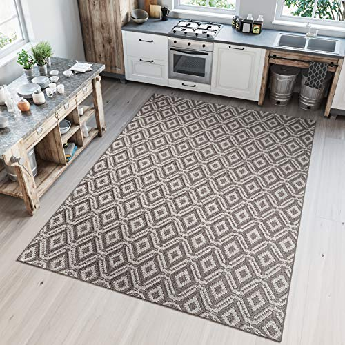TAPISO Nature Tappeto Cucina Design Sala da Pranzo Moderno Beige Geometrico Marocchino Orientale...