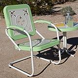 Coral Coast Paradise Cove Retro Metal Arm Chair