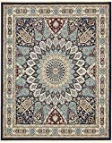 Unique Loom Narenj Collection Classic Traditional Medallion Textured Navy Blue Area Rug (8' 0 x 10' 0)