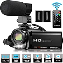 Video Camera Camcorder with Microphone, VideoSky FHD 1080P 30FPS 24MP Vlogging YouTube..