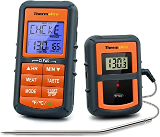 ThermoPro TP-07 Wireless BBQ Meat Thermometer for Grilling Smoker Oven Kitchen Turkey..