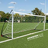 QUICKPLAY Kickster Elite Kickster Elite Cage de Foot Professionnelle 3 x 1M – Ultra Portable en Salle et De Plein Air But de Football Dispose d'une Base pondérée [Unique]