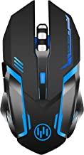 Wireless Gaming Mouse, Scettar Rechargeable Computer Gaming Mouse Unique Silent Click, 7..