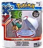 Pokemon X & Y Clip n Carry Pokeball Gogoat Figure & Premier Ball Figure Set (Tomy)