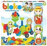 BLOKO - Coffret 50 avec Deux Figurines - Dès 12 Mois - Fabriqué en Europe - Jouet de Construction (Thème Ferme)