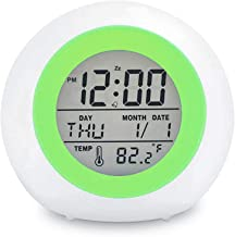 TooTa Kids Digital Alarm Clock, 7 Color Night Light, Snooze, Temperature Detect for..