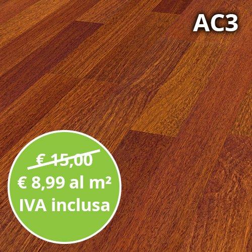 Pavimento in Laminato Afzelia Confezione Da 2.47 Mq   AC3