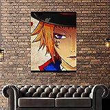 UIOLK Lienzo Kuroshitsuji, Arte de Pared, póster con impresión HD, Sombrero de Anime japonés, decoración Fresca para el hogar, Imagen Modular para Dormitorio