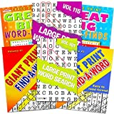 Title Large Print Word Search Books for Adults Super Set -- 6 Jumbo Word Find Puzzle Books with Large Print (Over 500 Pages Total)