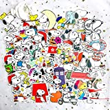 ZJJHX Pegatinas de Maleta de Dibujos Animados Snoopy Snoopy Pegatinas de Maleta Motocicleta monopatín portátil Impermeable Pegatinas de Coche 62 Hojas