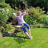 Relaxdays Gartentisch klappbar BASTIAN Metall - 6
