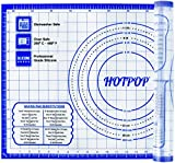 HOTPOP XXL (26' by 16') Silicone Pastry Mat With Measurements - Non Slip Thick And Non Stick Silicone Baking Fondant Mat - Rolling Dough, Pie Crust, Pizza and Cookies Baking Mat– Easy Clean and Store