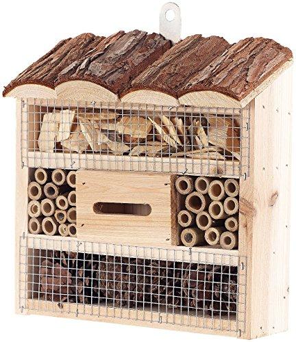 Royal Gardineer Insektenhäuser: Insektenhotel Marie, Nisthilfe für Nützlinge, 20 x 20 x 7 cm (Nistkästen)