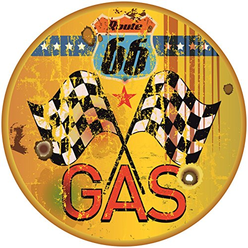 Finest-Folia Gas ROUTE66Old School Motorcycles Pegatinas Cafe Racer Retro # 16