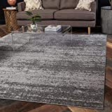 Unique Loom Del Mar Collection Contemporary Transitional Square Rug, 8 Feet, Gray/Beige