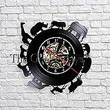 fdgdfgd Disco de CD Clásico Reloj de Pared Animal Africano Reloj de Disco de Vinilo Retro Decoración Creativa Decoración de Pared año Nuevo