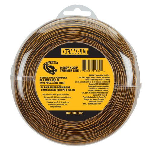DEWALT DWO1DT802 String Trimmer Line, 225-Feet by 0.080-Inch