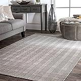 nuLOOM Kimberely Hand Loomed Area Rug, 4' x 6', Grey