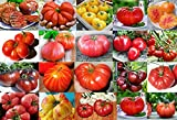 Please Read! This is A Mix!!! 30+ Giant Tomato Seeds, Mix of 22 Varieties, Heirloom Non-GMO, Brandywine Black, Red, Yellow & Pink, Mr. Stripey, Old German, Black Krim, from USA
