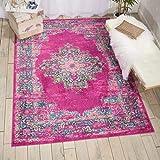 Nourison Passion Traditional Bright Colorful Area Rug, 5'3'X7'3', FUCHSIA, 7 Feet