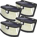 Aootek solar lights 120 Leds with lights reflector,270 degree Wide Angle, IP65 Waterproof, Security Lights for Front Door, Yard, Garage, Deck(4pack)