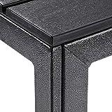 SONGMICS Gartentisch kleiner Tisch mit imitierter Holzmaserung aus Kunststoff - 6