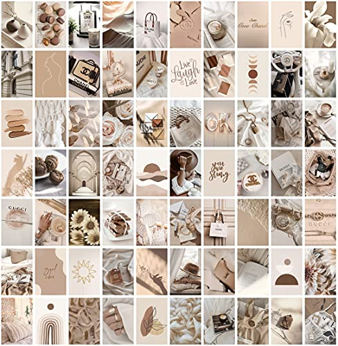 ANERZA Beige Wall Collage Kit Aesthetic Pictures, Boho Room Decor...