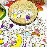 TTBH Bonita Pegatina de Conejo de acción, Pegatinas de Iconos de Anime, Regalos para niños, Maleta para portátil, Guitarra, Nevera, Bicicleta, Coche de Juguete, 40 Uds.