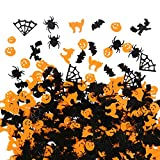 Bimkole Halloween Confetti Table Scatter, Citrouilles Araignées...