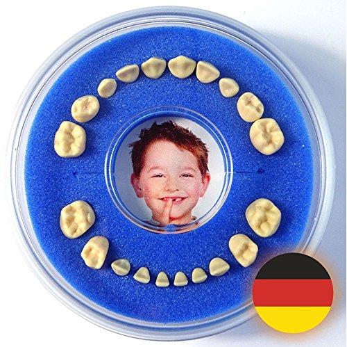 Firsty Milchzahndose - Blau, Jungen Round - Inklusive Logbüchlein Deutsch und Hurra-Aufkleber - ABF Schneller Versand