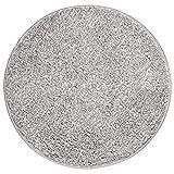 mDesign Soft Microfiber Polyester Non-Slip Round Spa Mat/Runner, Plush Water Absorbent Accent Rug for Bathroom Vanity, Bathtub/Shower, Machine Washable - 24' Diameter - Heather Gray
