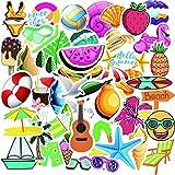 YMSD Pequeños frescos verano vacaciones en la playa ins graffiti pegatinas maleta maleta maleta trolley scooter dibujos animados pegatinas 50pcs