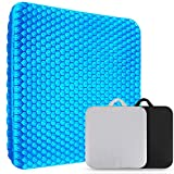 XSIUYU Extra-Large Gel Seat Cushion, Breathable Honeycomb Design Pain Relief Egg Seat Cushion - Home...