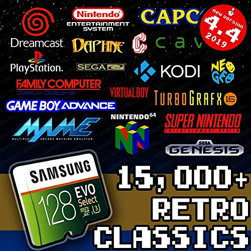 128 GB Retropie SD Card - Premium Collection with Video Previews & 3D Boxart