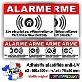 Autocollants Alarme (x 6) + plastification de Protection Anti UV : Site...