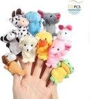Twister.CK Finger Marionnettes, Bébé Histoire Time Props, 10 pcs Style Animal Soft Velvet Dolls Props Jouets Éducatifs pour Bébé Enfants