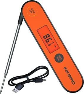Inkbird Waterproof Instant Read Thermometer IHT-1P, Rechargeable Battery, Digital BBQ..