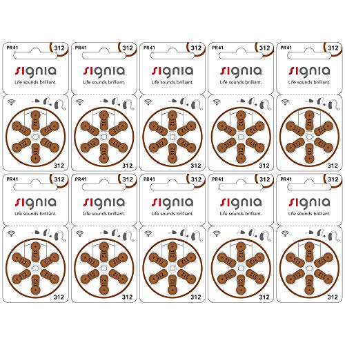 SIEMENS シーメンス 補聴器用空気電池 PR41(312) 10パックセット(60粒)