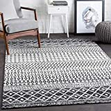 Hauteloom Constantinople Moroccan Trellis Farmhouse 5'3' x 7'6' Rectangle Bohemian/Global 100% Polypropylene Medium Gray/Black/White Area Rug