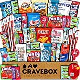 CraveBox Care Package (45 Count) Snacks Food Cookies Granola Bar Chips...