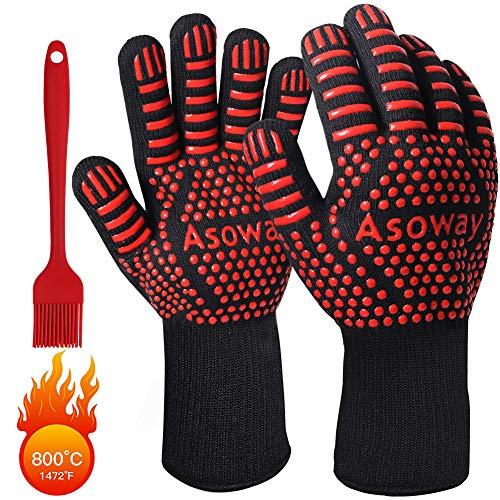 Guanti per barbecue, guanti estremamente resistenti al calore per forno, cucinando ,grigliate ,...