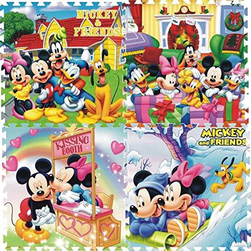 Baby Bucket 4pc EVA Foam Puzzle Crawl/Exercise/Floor Mat (Interlocking Play Mat - Fam) (Print May Vary) 8