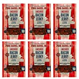 Sriracha Bacon Jerky 6 Pack - Bacon Jerky By Pork Barrel BBQ, 2 oz (Pack of 6), Uncured, Gluten Free, Nitrate Free Bacon Jerky