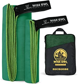 Wise Owl Outfitters Camping Towel & Gym Towel – Ultra Soft Compact Quick Dry..