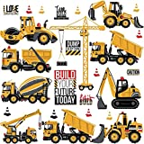 WandSticker4U®- Stickers muraux enfants EXCAVATRICE (85x44 cm) I véhicules camions chariot élévateur tracteu cranes voiture autocollants I sticker mural pour chambre d'enfant bébé garçon crèche