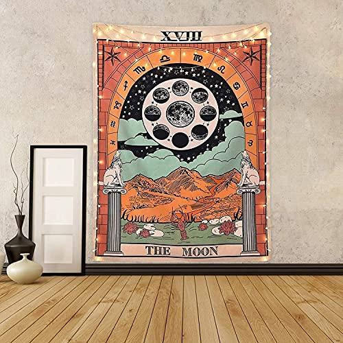 Tarot Tapestry The Moon Tarot Card Tapestry Medieval Europe...