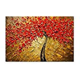 H.COZY Art - Modern Abstract Canvas Wall Art Textured Palette Knife Canvas Oil Paintings for Home Decoration Oil Painting Ft212 (No Frame)